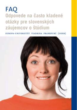 Odpovede na často kladené otázky pre slovenských záujemcov o