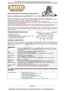 SK Manual FG jednovalcové motory
