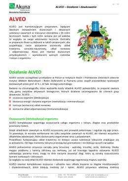Działanie ALVEO - Alveo i produkty AKUNA