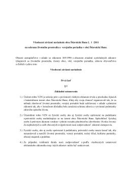 Všeobecne záväzné nariadenie č. 1/2011 na