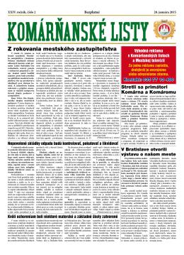 Komárňanské listy 02/2015 - Mestská televízia Komárno