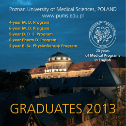 GRADUATES 2013 - Poznan University of Medical Science