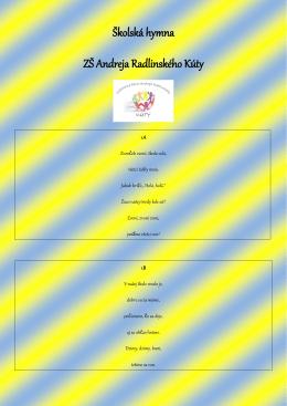Školská hymna ZŠ Andreja Radlinského Kúty