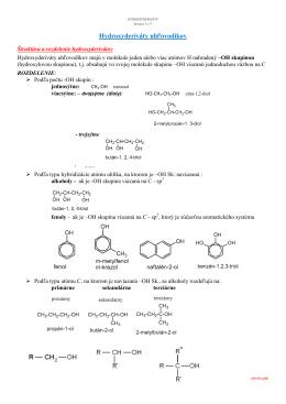 3.3 hydroxyderiváty