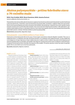 Akútna polymyozitída - Interní medicína pro praxi