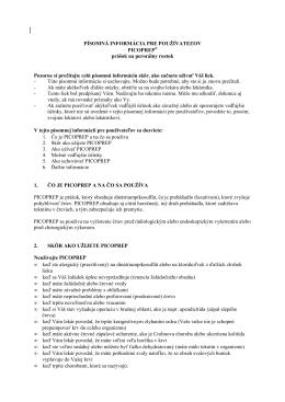PIL - písomná informácia pre používateľov