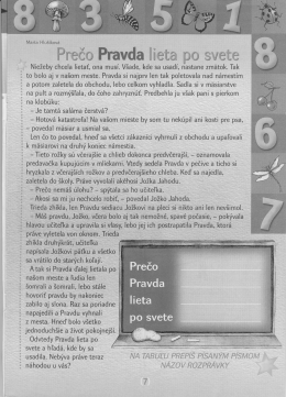 Marta Hlušíková Prečo Pravda lieta po svete