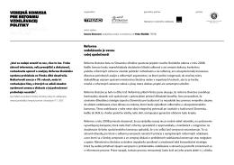Správa z prvého zasadnutia Verejnej komisie pre reformu