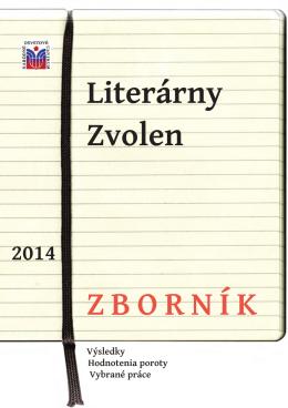 Literárny zborník 2014 - krajská knižnica ľudovíta štúra zvolen