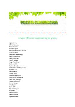 Harmonogram Przesłuchań - Państwowa Szkoła Muzyczna I st. im