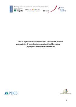 správu z prieskumu - Karpatská nadácia