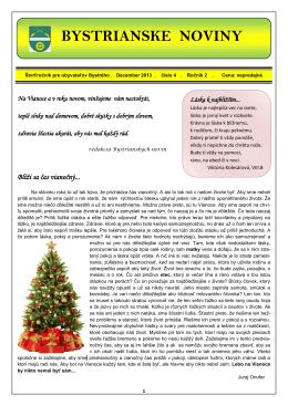 Bystrianske noviny - Vianočné vydanie 2013