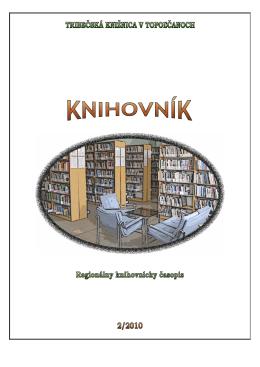 K N I H O V NK - Tribečská knižnica v Topoľčanoch