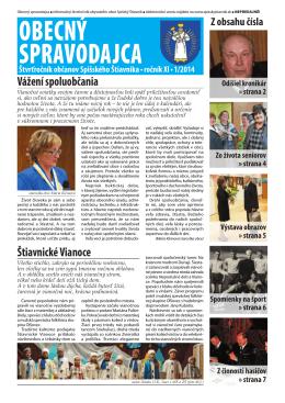 Obecný spravodajca 1/2014
