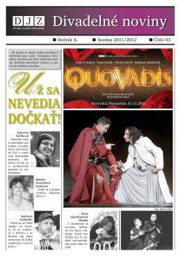 č. 3 / X / november 2011 - Divadlo Jonáša Záborského