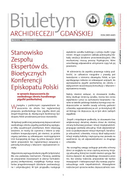 Biuletyn Archidiecezji Gdańskiej 3/2015