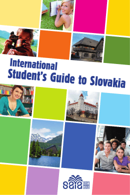 Student`s Guide to Slovakia - National Scholarship Programme
