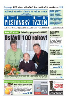 Oslávil 100 rokov! - Piešťanský denník