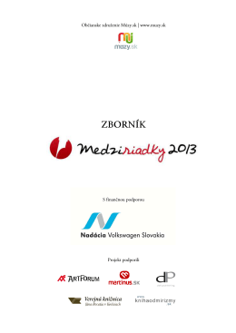 Zborník 2013 (PDF)