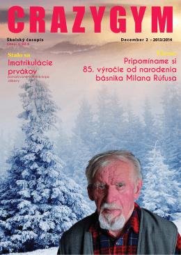 CRAZYGYM - december 2013 - Gymnázium Milana Rúfusa