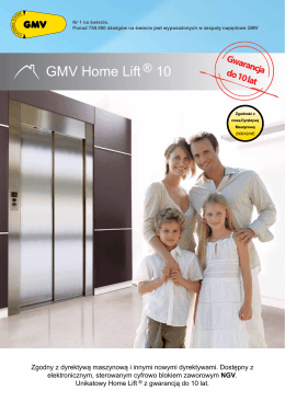 HOME LIFT .pdf - GMV Polska Sp. z oo