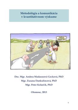 Metodológia a komunikácia v kvantitatívnom výskume