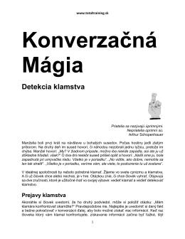 Konverzačná Mágia :: Detekcia Klamstva