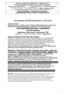 xvi europejski bal lekarza - Polnischen Medizinischen Gesellschaft