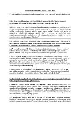 Podklady o referende za rodinu - farnost