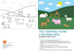 Vytlačte si svoj detský test kontroly astmy