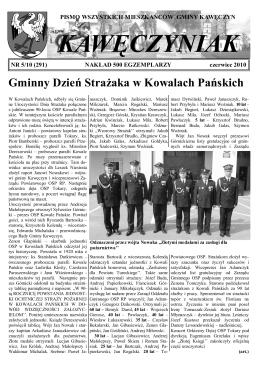 Kawęczyniak 5-2010.pdf - Kawęczyn, Urząd Gminy