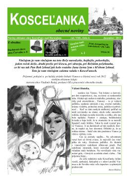rok 2011 číslo 4 - Kostoľany nad Hornádom