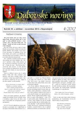 4/2012 - Dubová