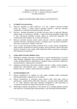 Rokovací poriadok (pdf, 506kB)