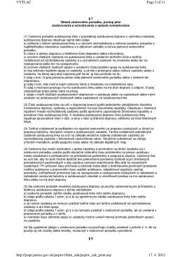 Výber z Vyhlášky 124/2012 Z.z.