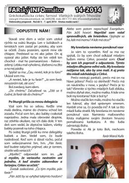 č.14-2014 - Gréckokatolícka farnosť Trhovište