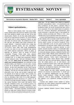 Bystrianske noviny č. 3/2014