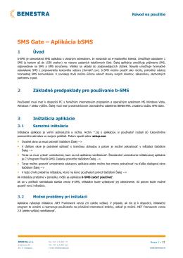 SMS Gate – Aplikácia bSMS