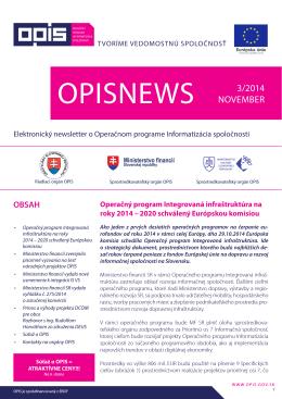 opisnews 3/2014 - Informatizácia