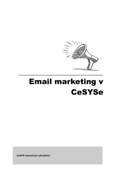 Emailový marketing v CeSYSe