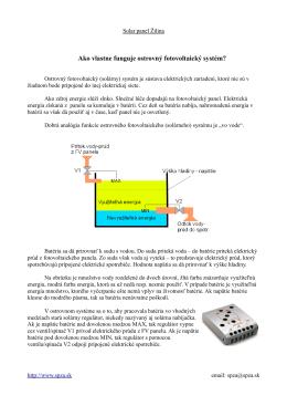 Ako vlastne funguje ostrovný fotovoltaický systém?
