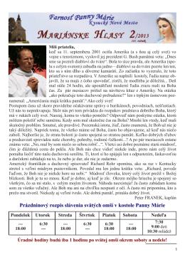 č. 2/2013 - Farnosť Panny Márie Kysucké Nové Mesto