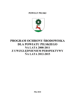 Aktualizacja Programu Ochrony Środowiska Miasta Iławy na lata 2010