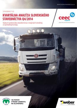 Kvartálna analýza slovenského stavebníctva Q4/2014