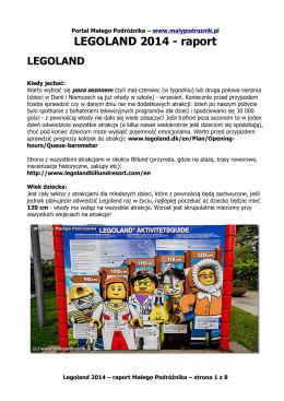 LEGOLAND 2014 - raport - Portal Małego Podróżnika