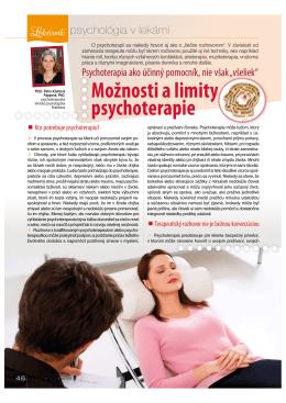 Možnosti a limity psychoterapie