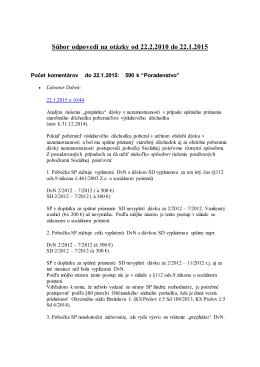 Subor otazok a odpovedi od 22.2.2010