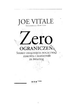 Zero Ograniczeń - Joe Vitale