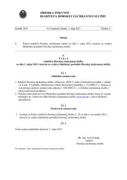 Pokyn 6 2013 - skúšobný poriadok