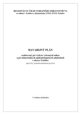Havarijný plán pri mimoriadnych